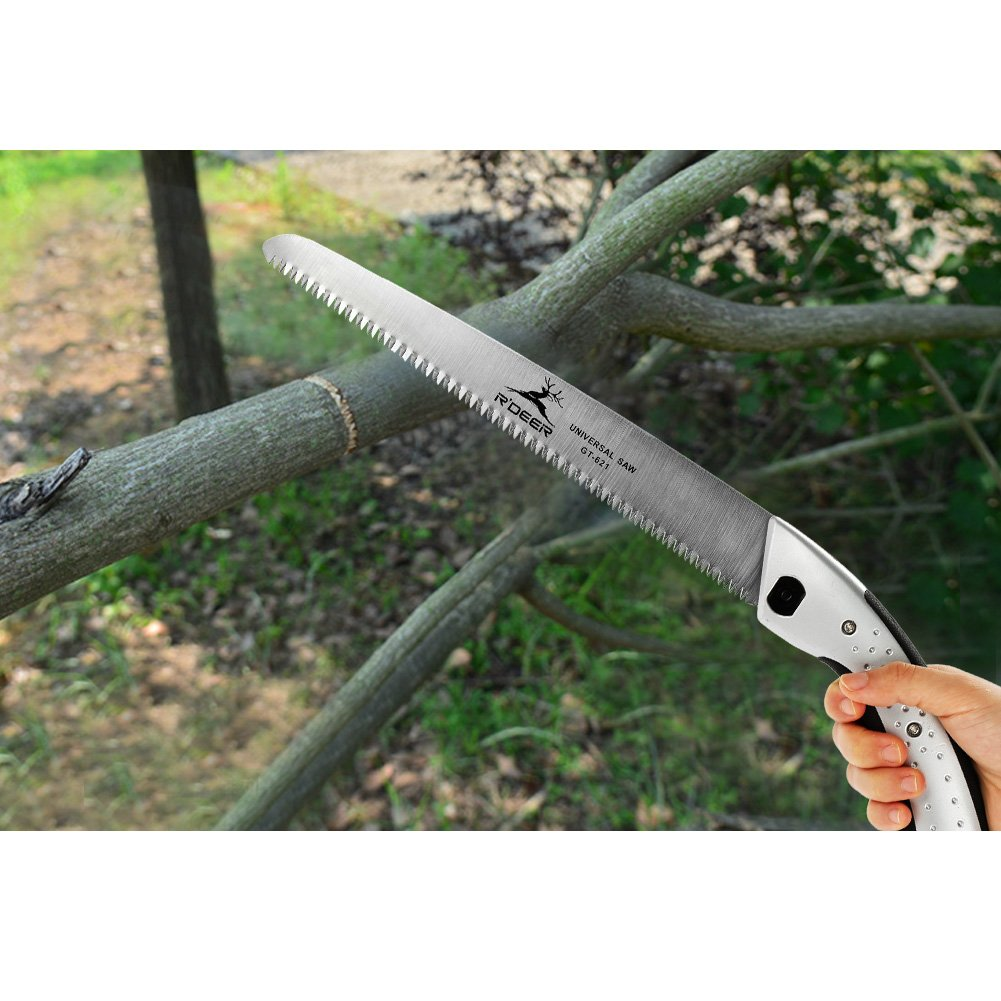 GLOGLOW Hand Saw Aluminum Handle Ultimate Sharp Teeth Blades Garden Pruning Saw with Sheath for Landscape Trimming Tree Branches Clearing Forest Trails Cutting Tool by GLOGLOW (Image #4)
