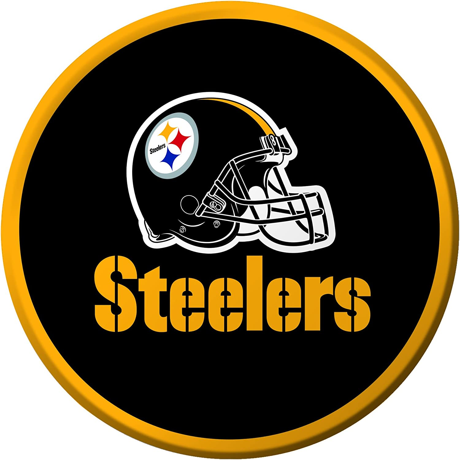 Creative Converting 8 Count Pittsburgh Steelers Paper Dessert Plates