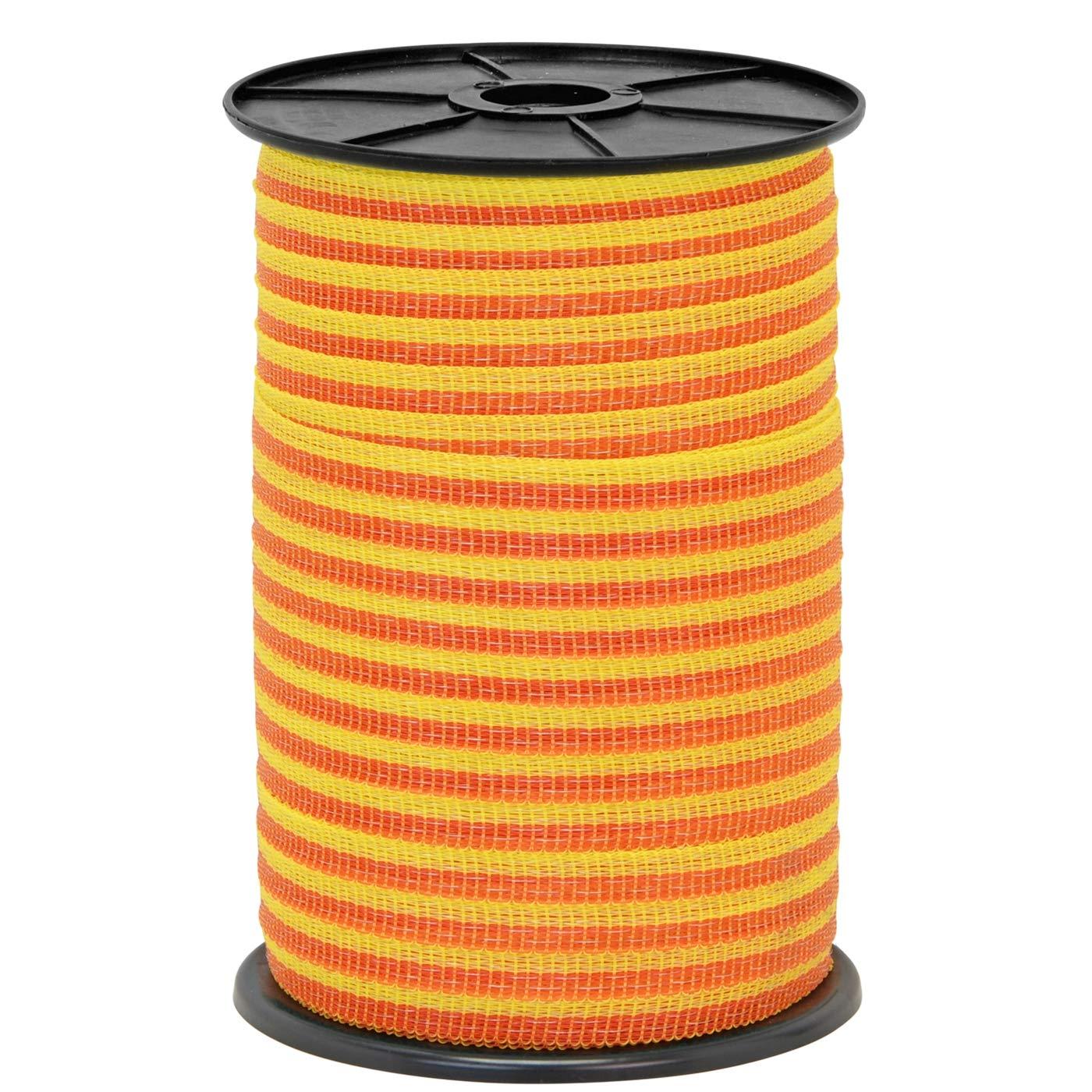 16 Acier Inox Jaune Orange VOSS.farming 250m Ruban Clôture Électrique 10mm 4x0