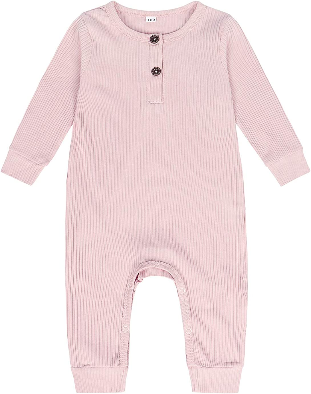 Jurebecia Rompers Cotton Boys Girls Jumpsuits Long Sleeve Sleepsuit Coveralls Cartoon Outfits Toddler Rompers Jumpsuits