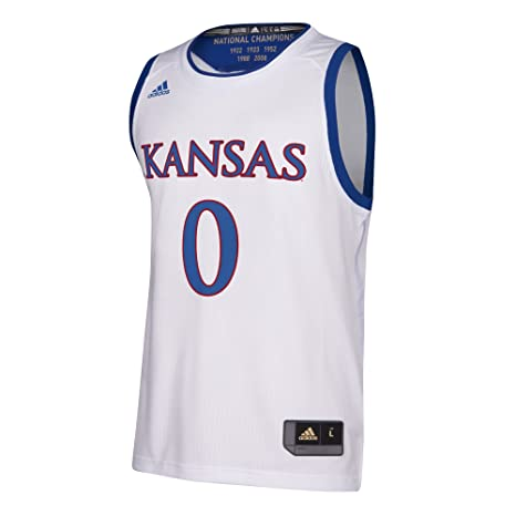 wholesale dealer 9518d 47f50 adidas Kansas Jayhawks NCAA Men's March Madness White #1 Basketball Jersey