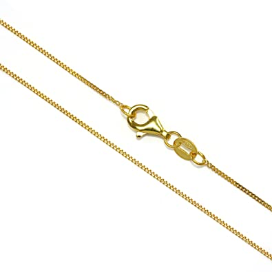 Yellow Gold Dipped Sterling Silver Fine Diamond Cut Curb Chain 16-22 Inches 9gGfmnxRc