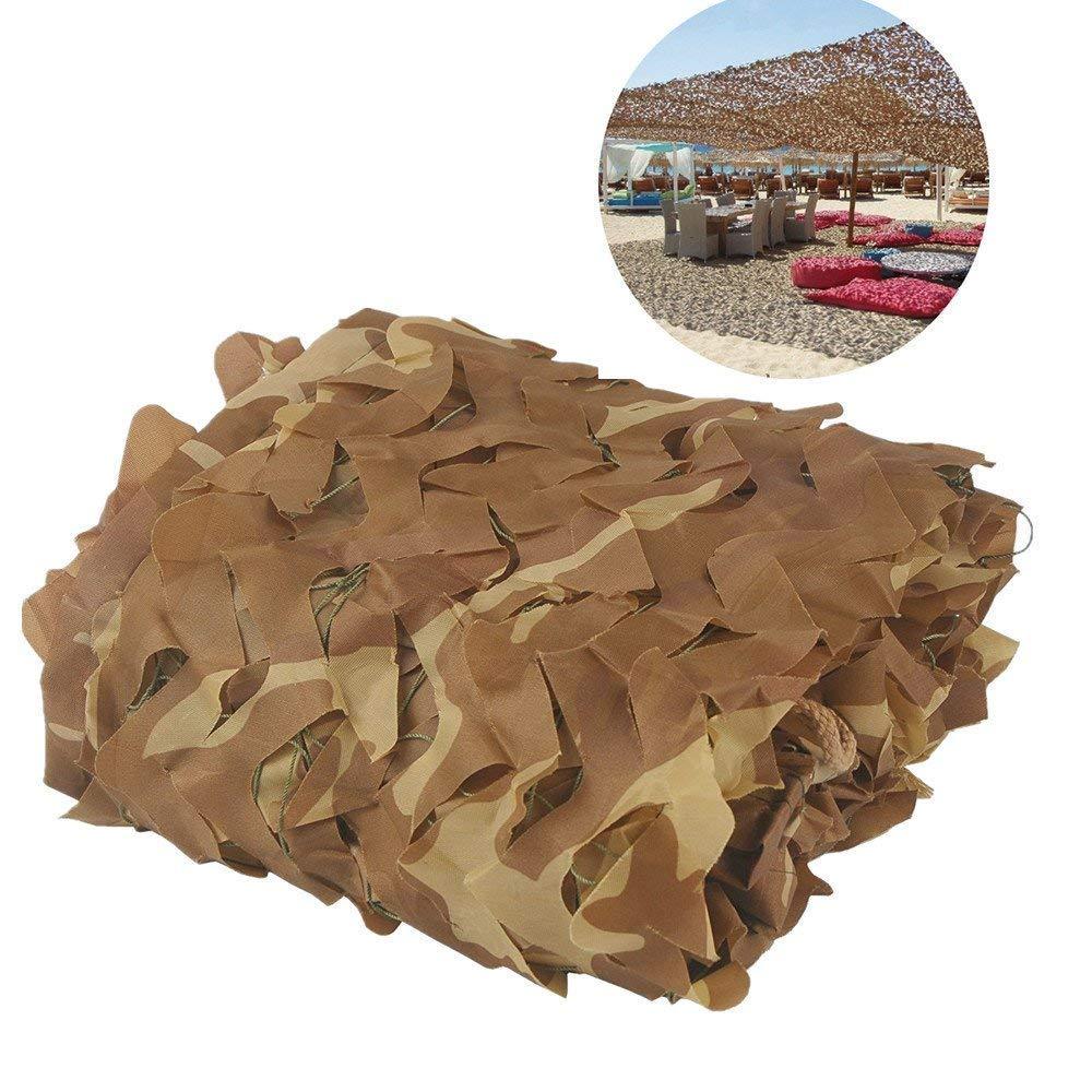 2メートル×3メートルオックスフォード布砂迷彩ネット、狩猟射撃隠しキャンプ、屋外写真装飾、テーマパーティー大イベント (Size : 10m×20m)  10m×20m