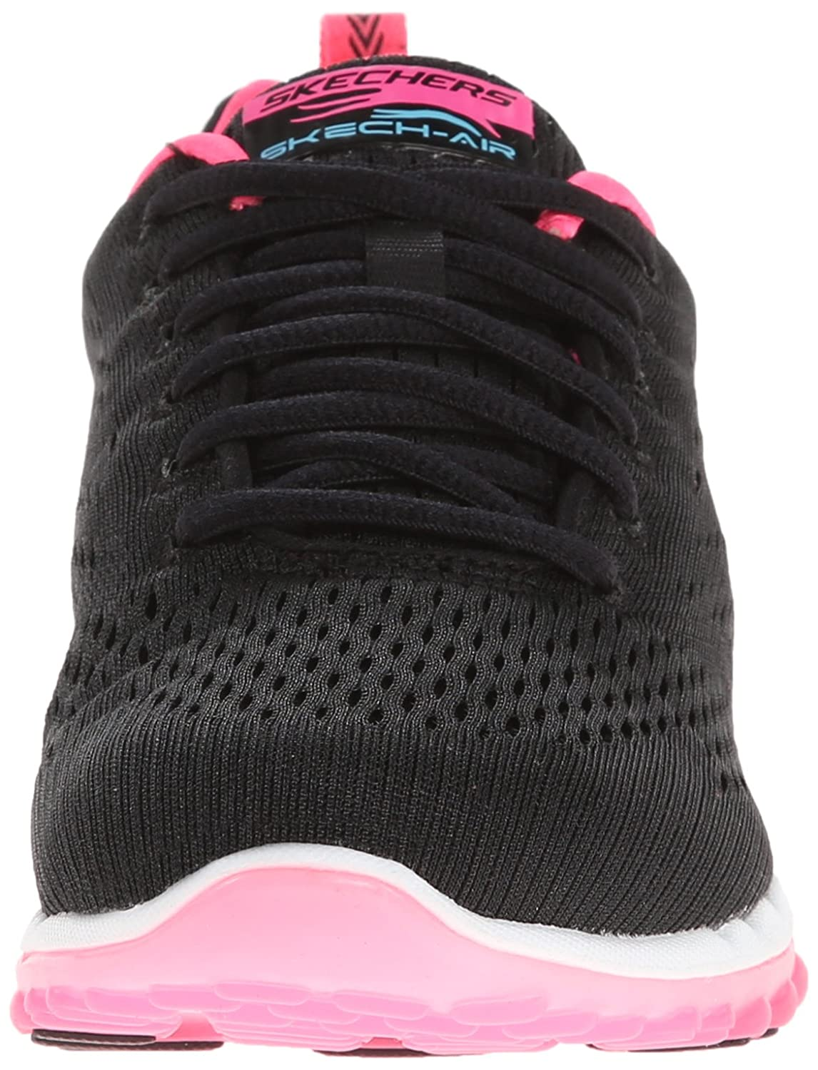 Skechers Sport Women's Skech Air Run High Fashion Sneaker B00MXVI8IU 6 B(M) US|Black Mesh/Hot Pink Trim