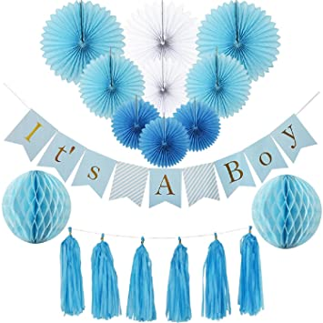 amazon com baby shower decorations for boy kit it s a boy banner