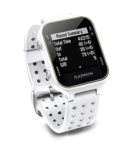 Garmin Approach S20 - Montre GPS de Golf - Blanc  Amazon.fr  High-tech c7399512aa30