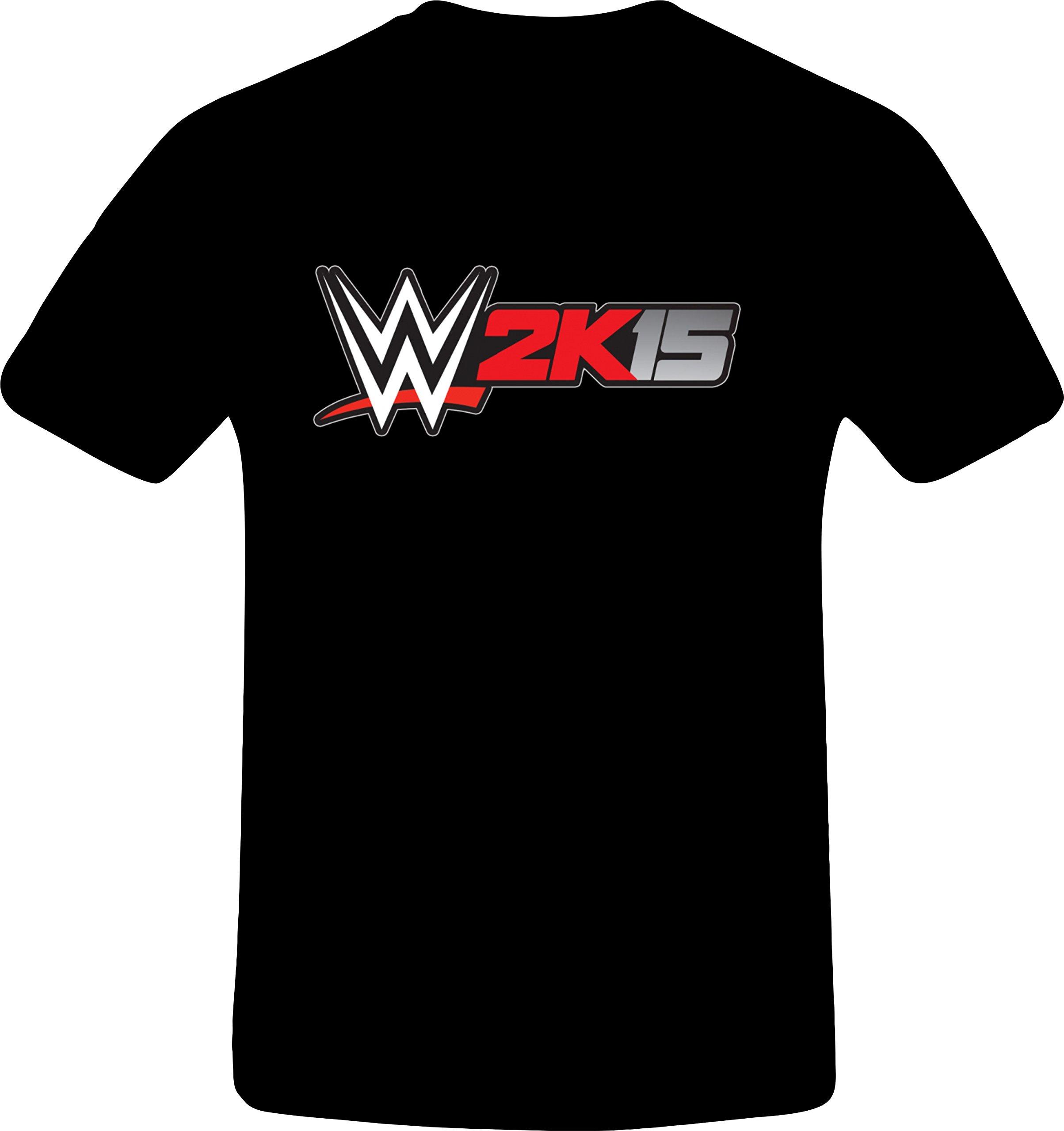 W 2k15 Wrestling - Best Quality Costum Tshirt (5XL, BLACK)