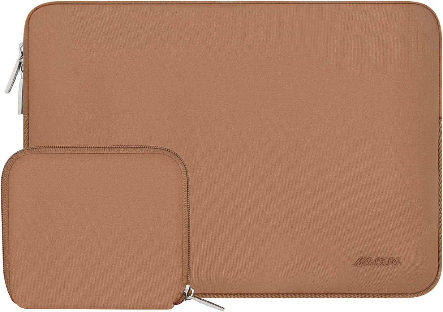 MOSISO Laptop Sleeve Compatible with 13-13.3 inch MacBook Pro, MacBook Air, Notebook Computer, Water Repellent Neoprene Bag with Small Case, Brown