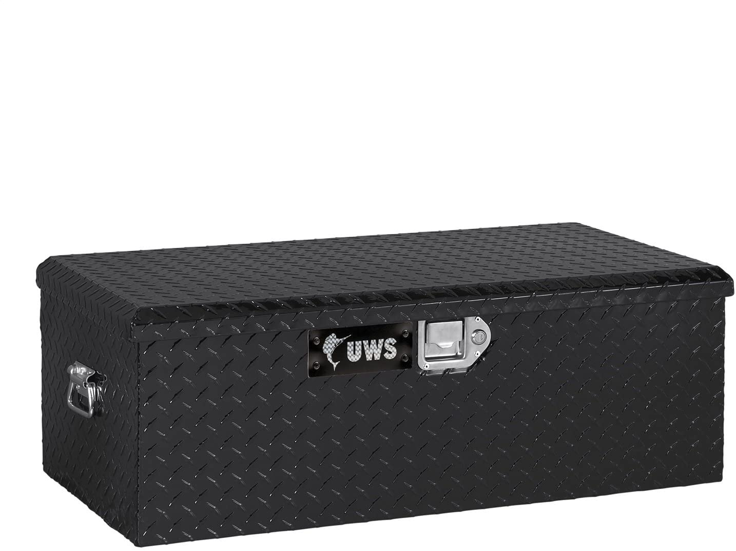 UWS FOOT-LOCKER-BLK Black Foot Locker Chest with End Pull Handles and Beveled Insulated Lid