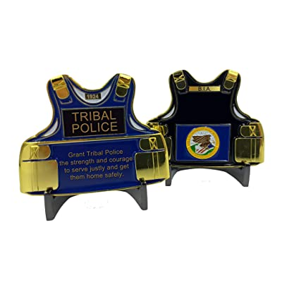B-004 Tribal Police Bureau of Indian Affairs Body Armor Challenge Coin Reservation: Toys & Games
