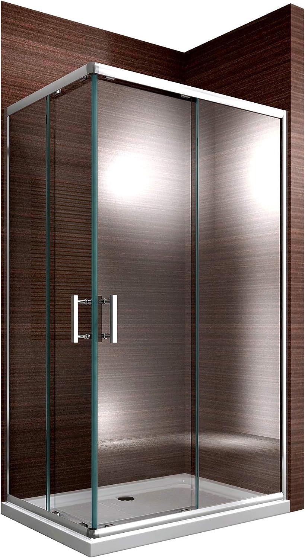 Bernstein Baño Shop cabinas de Ducha Esquina Ducha Puertas correderas 6 mm Nano EchtGlas ex506 – 90 x 120 x 195 cm: Amazon.es: Hogar