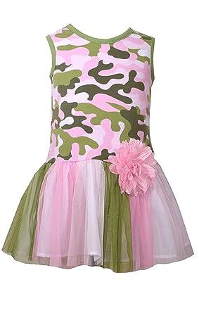 bc3decb3b85 Amazon.com  Bonnie Jean Girls Pink Camo Camouflage Tutu Sundress (2t ...