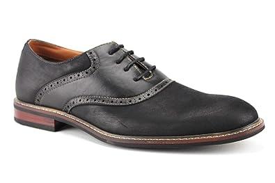 a1f88e9e0fab7 Ferro Aldo Men's 19268A Two Tone Saddle Lace Up Oxfords Dress Shoes