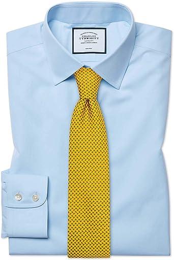 Charles Tyrwhitt Camisa Azul Celeste de Popelina y Corte ...