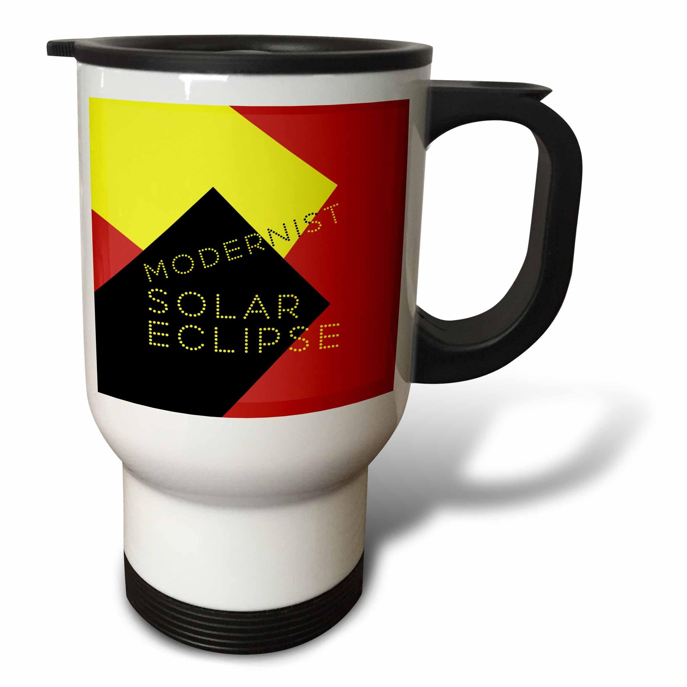 3dRose Alexis Design - Art - Modernist Solar Eclipse Art - 14oz Stainless Steel Travel Mug (tm_271749_1)