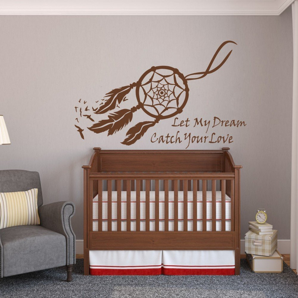 Amazon dream catcher wall decal vinyl dream catcher sticker amazon dream catcher wall decal vinyl dream catcher sticker baby nursery wall decor wall mural bedroom wall art decor teal cell phones accessories amipublicfo Gallery