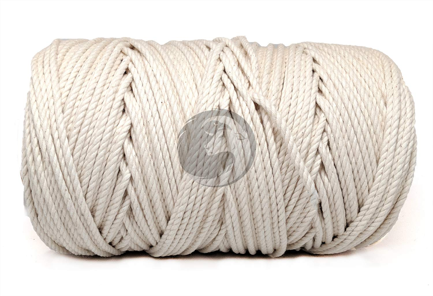 Pet Toys 3//8 in x 100 ft Baker /& Butchers Twine White  USA Made Natural Cord Macram/é Ravenox 100/% Cotton Twisted Rope   Crafts Knotting