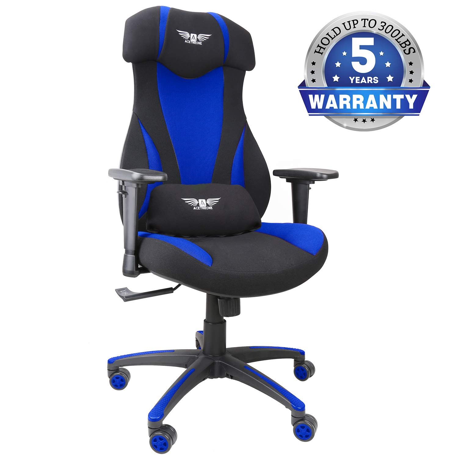 Mesh Gaming Chairs, Racing Style Office Chair Ergonomic Computer Desk Chairs with Lift Headrest and Armrest, Flexible Adjustable Height and Reclining Device