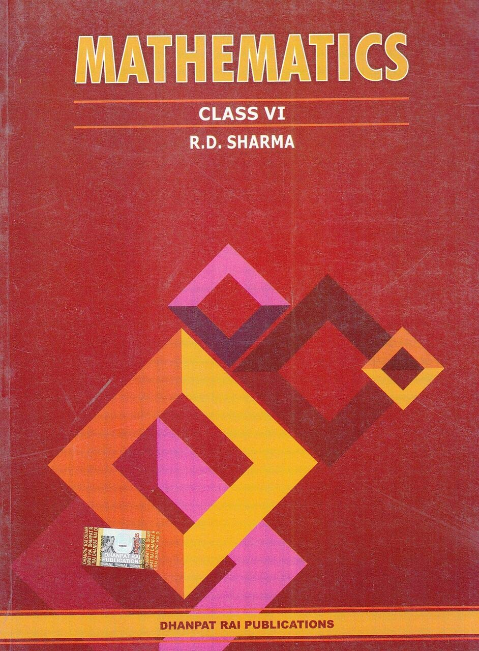 Mathematics for Class 6 by R D Sharma 2019-2020 Session