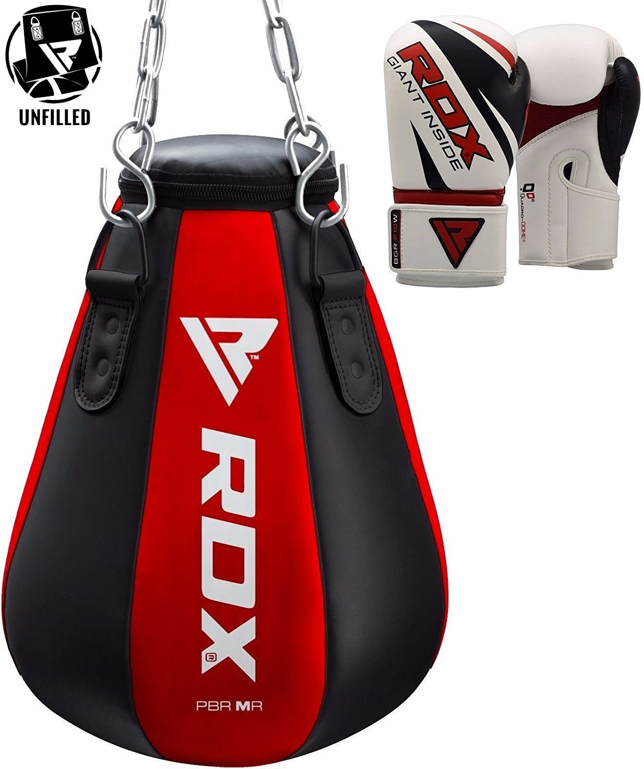 RDX MMA Maize Punch Bag Boxing UNFILLED Heavy Kickboxing Grappling Muay Thai Sparring Training Gloves Hanging Chain by RDX