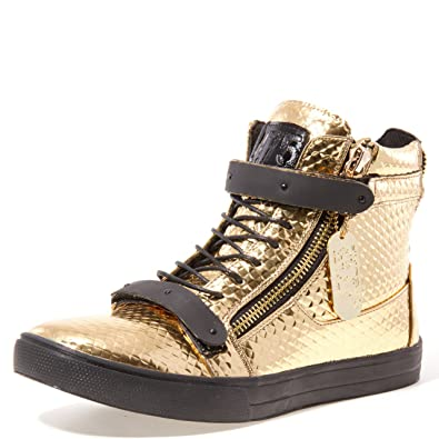 New Fashion Style Of Men J75 by Jump Zion High-Top Sneaker Black - C9L78H6930