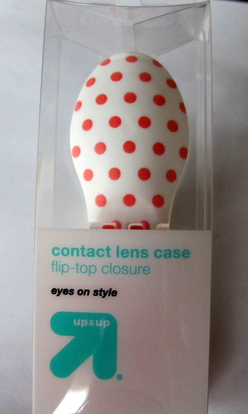 Target Brand Dots Contact Lens case Holder Travel Edition Bright Colored Case Letters Marked R and L Individually packed