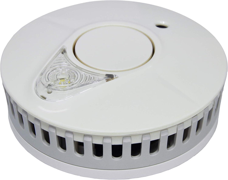 Color Blanco FireAngel ST-623ER Alarma de Humo con luz 5 a/ños