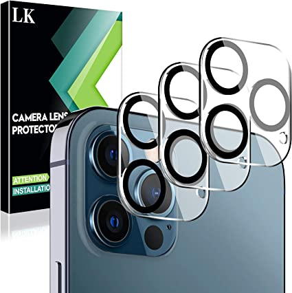 EGV Compatibile con iPhone 12 Pro Max Protector de Lente de C/ámara,3 Pack Cristal Templado