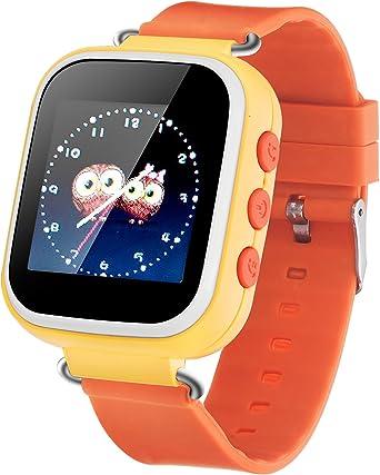 Pantalla táctil Smart Watch GPS Tracker para Iphone iSO y Android Kid GSM Anti-lost SOS reloj de pulsera Parent Control Smartphone para niños GirlsQ523: Amazon.es: Relojes