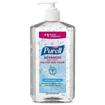 Amazon.com : Advanced Hand Sanitizer, Refreshing Gel, 20 fl oz Hand Sanitizer Table Top Pump Bottles- 3023-12-EC - Pack of 4 : Beauty