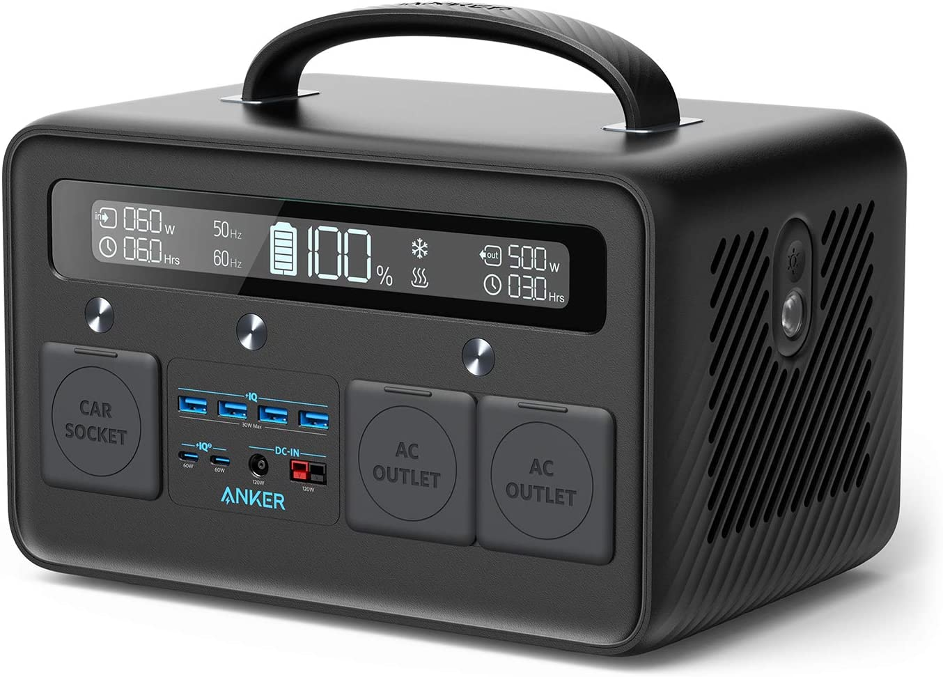 Anker Portable Power Station, PowerHouse II 800, 500W/777Wh Solar Generator with 110V/500W 2-AC Outlets, 2X 60W Power Delivery Outputs & LED Flashlight, for Outdoor RV/Van Camping, Home Emergencies