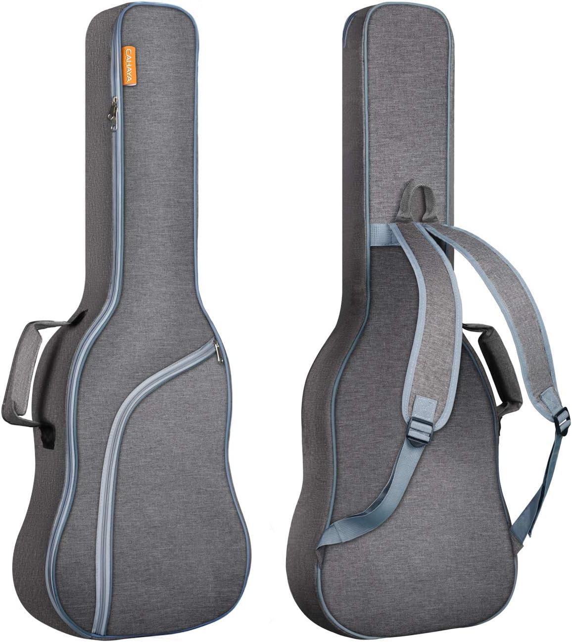 CAHAYA Bolsa Guitarra Electrica Acolchada 9mm para Guitarra Electrica con Un Bolsillo Frontal para Libros de Música