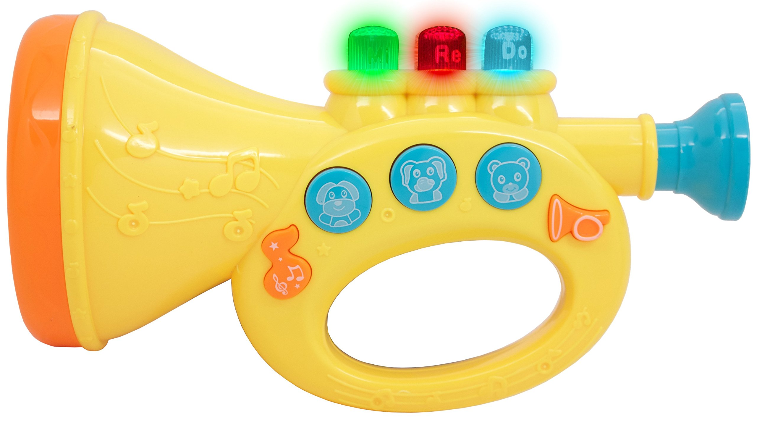 TECHEGE Toys Learn'n'Play Large Musical Trumpet Fun Lights Music Jukebox Great for Kids Beginner Trumpet by Techege Toys