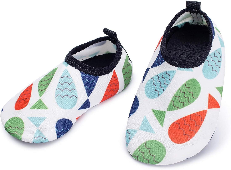 L-RUNJP - Zapatos de agua para bebé, ligeros, calcetines acuáticos para verano, zapatos de natación