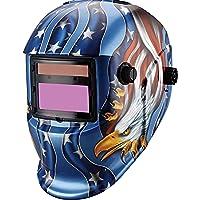 Careta para Soldar Fotosensible Electrónica Auto Oscurecimiento Uso Industrial Diseño Águila Azul