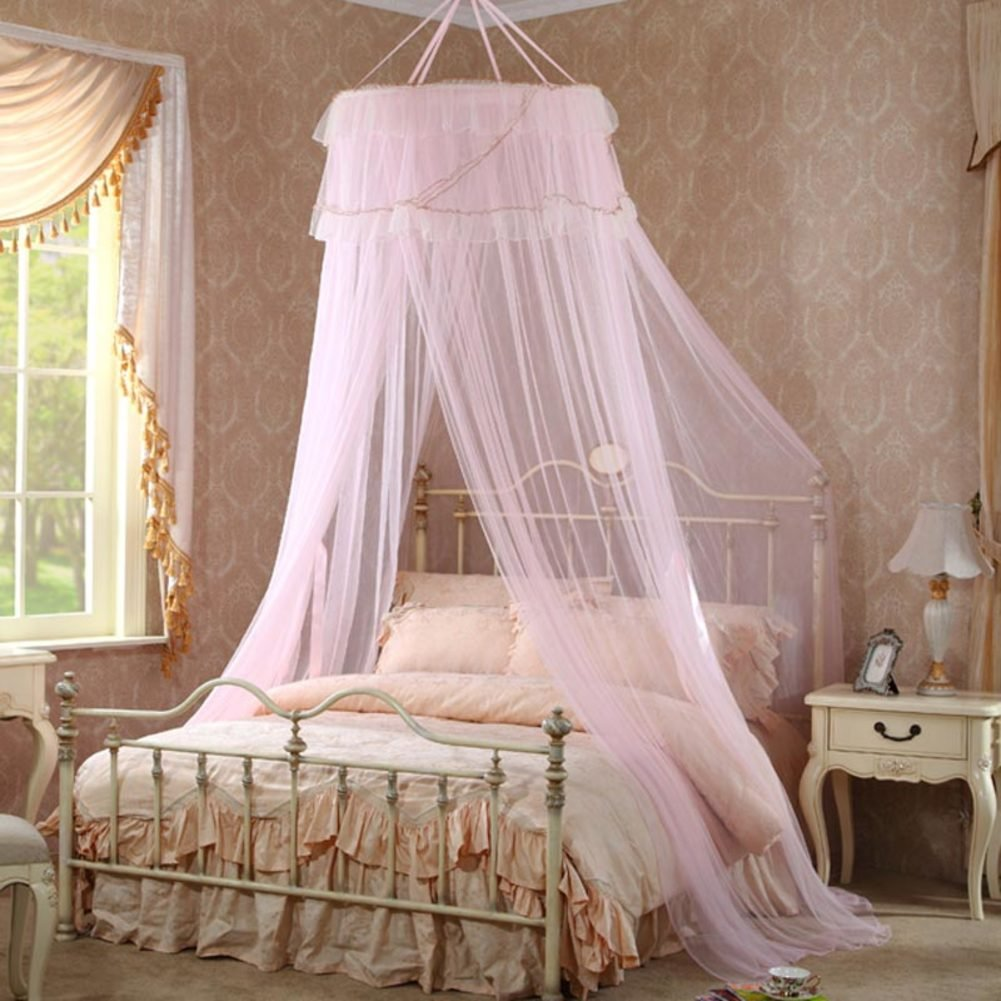 Court Princess Dome,Fashion Mosquito Net/European-style Fine Mosquito Net/Sub-ceiling Leisure Mosquito Net-A C by fdgg (Image #2)