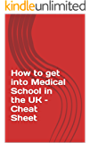 How to get into Medical School in the UK – Cheat Sheet