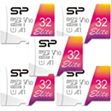 Silicon Power 32GB 5-Pack MicroSDHC UHS-1 Memory Card with Adapter