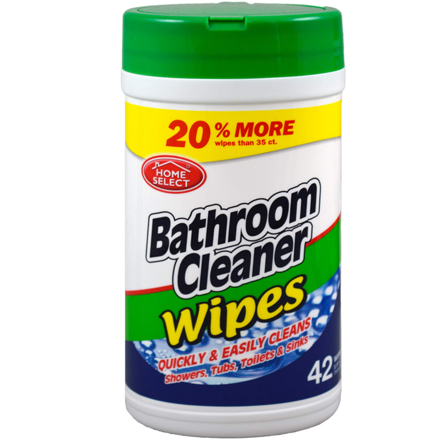 (Pack of 24, 1008 Ct) Home Select Bathroom Cleaner Wipe 42 Ct by Home Select Cleaner