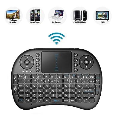 Best Deal® 2.4 GHz Mini Wireless QWERTY Teclado con Touchpad Ratón móvil, Li-