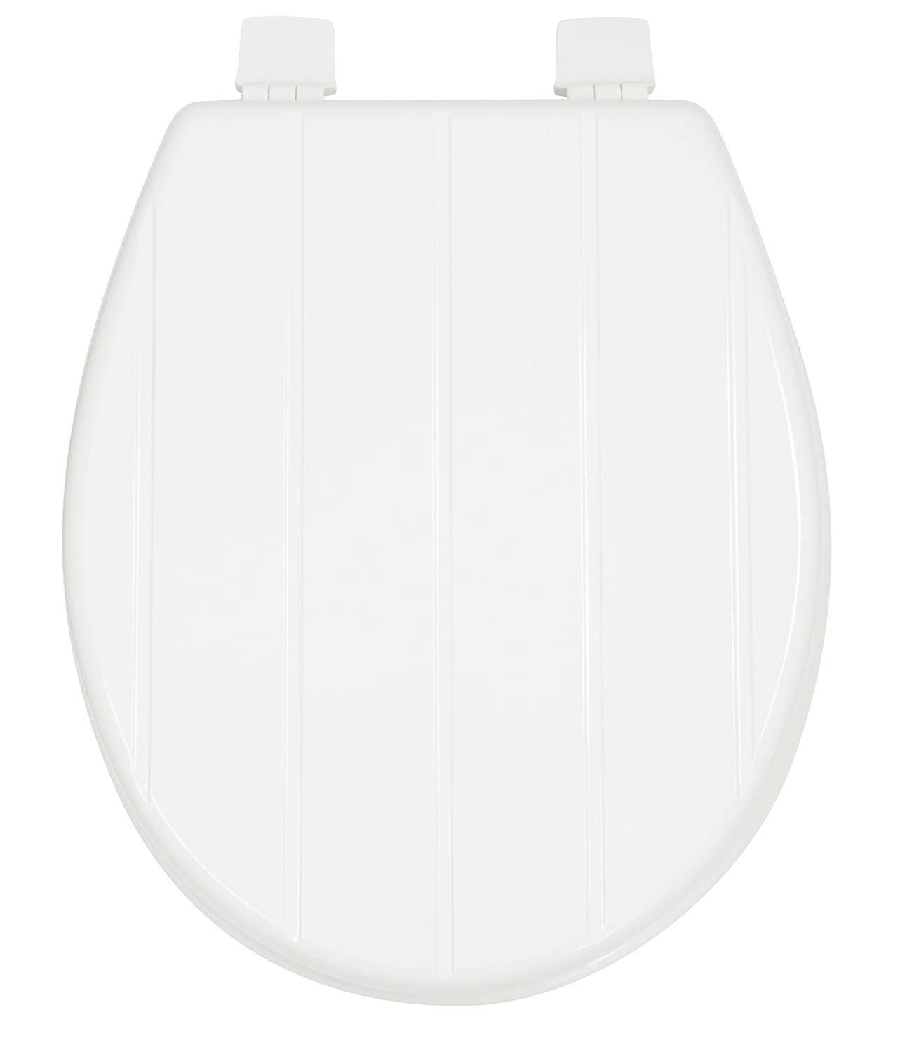 Croydex Sit Tight Buttermere Toilet Seat, Wood, White, 43.5 x 37.2 x 6 cm WL601922H