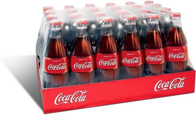 Botella Coca Cola de vidrio - 24 x 330 ml: Amazon.es: Alimentación y bebidas