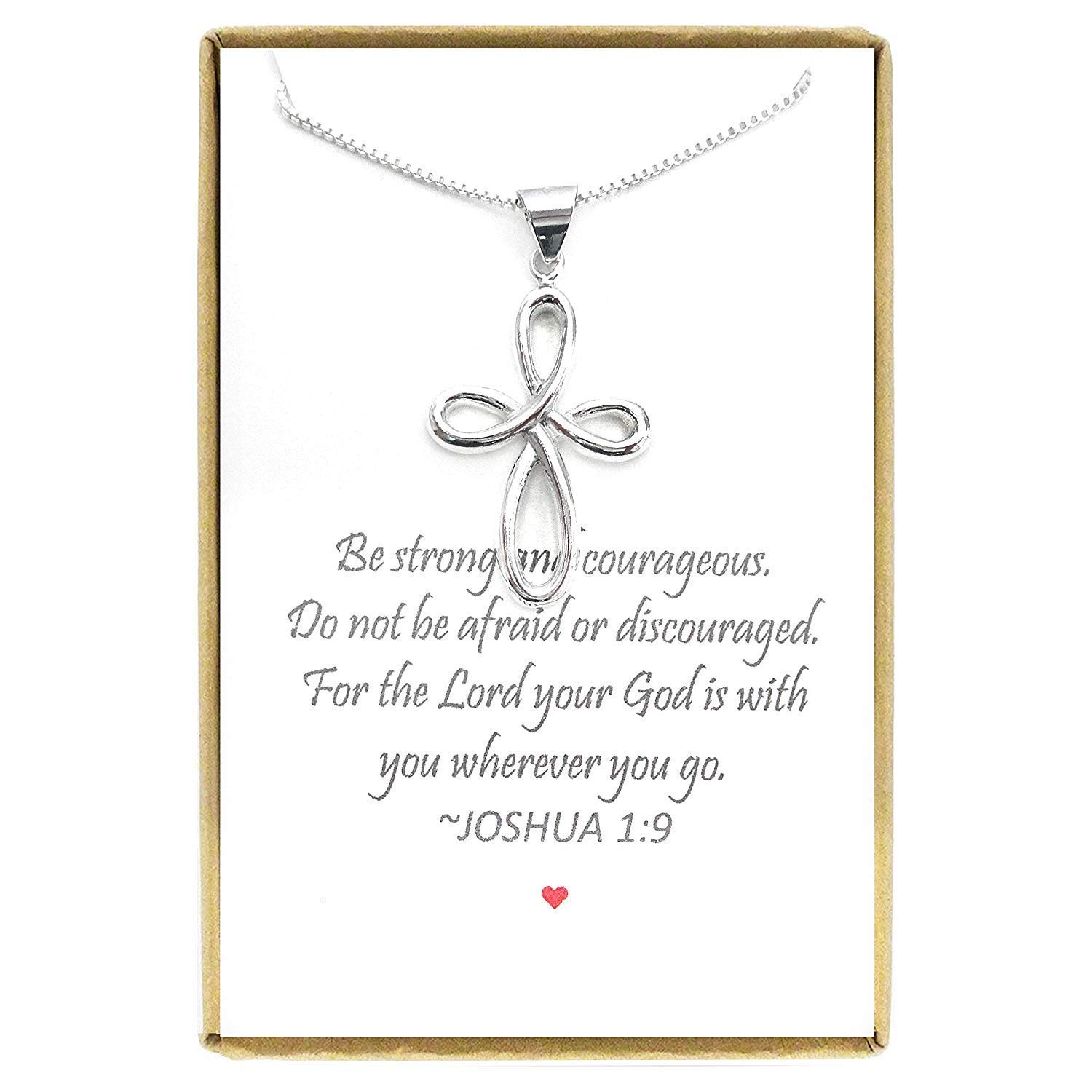 Sterling Silver Cross Necklace 18 Baptism Gift for Teen Girl 2 extender Cross Necklace
