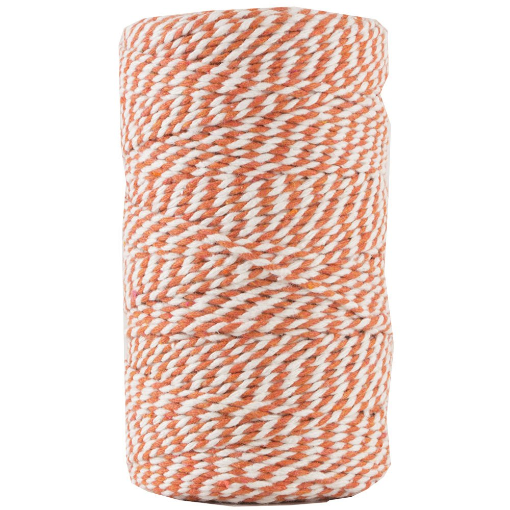 JAM PAPER Twine - Orange & White Baker's Twine - 109 Yards - Sold Individually by JAM Paper