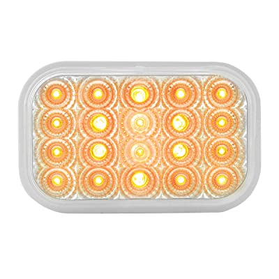 GG Grand General 77011 Rectangular Low Profile Spyder Amber/Clear 20-LED Light: Automotive
