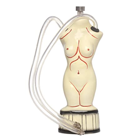 Metier 6 Inch Tall Ceramic Bong, Smoking Waterpipe, Hookah (Woman Shape) Hookah at amazon