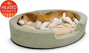 K&H Pet Products Thermo-Snuggly Sleeper Heated Pet Bed Sage
