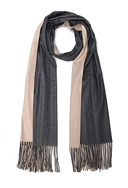 983bdfecbca VOCHIC Double Layered Solid Color Women Scarf Shawl Wrap with Tassel at  Amazon Women s Clothing store