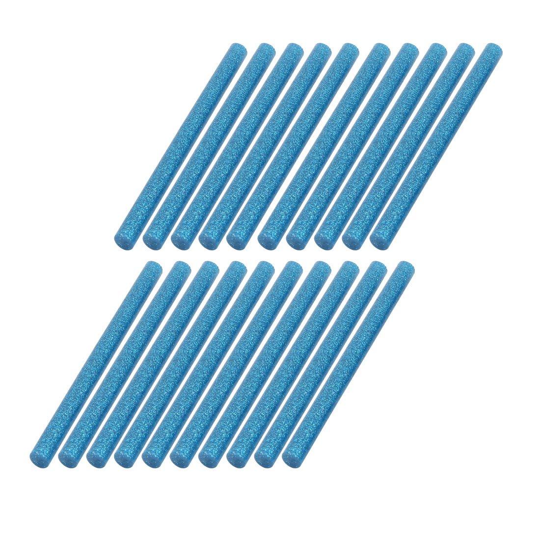 sourcing map 20pcs Bâton de colle Bleu brillant 100mmx7mm pour pistolet chauffant