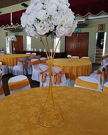 Amazon Com Everbon Pack Of 10 Wedding Gold Centerpiece Luxury